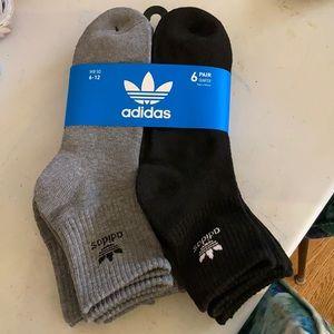 Adidas Originals Quarter Crew Socks 6pk